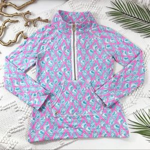 Lilly Pulitzer Pink & Blue Sea Shell Pop Over Top